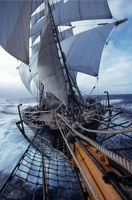I would love to sail on a ship like this. What an adventure!