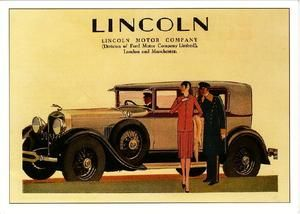 Lincoln 1920s Car Ad It Is A Extension Of The Ford Motor Company