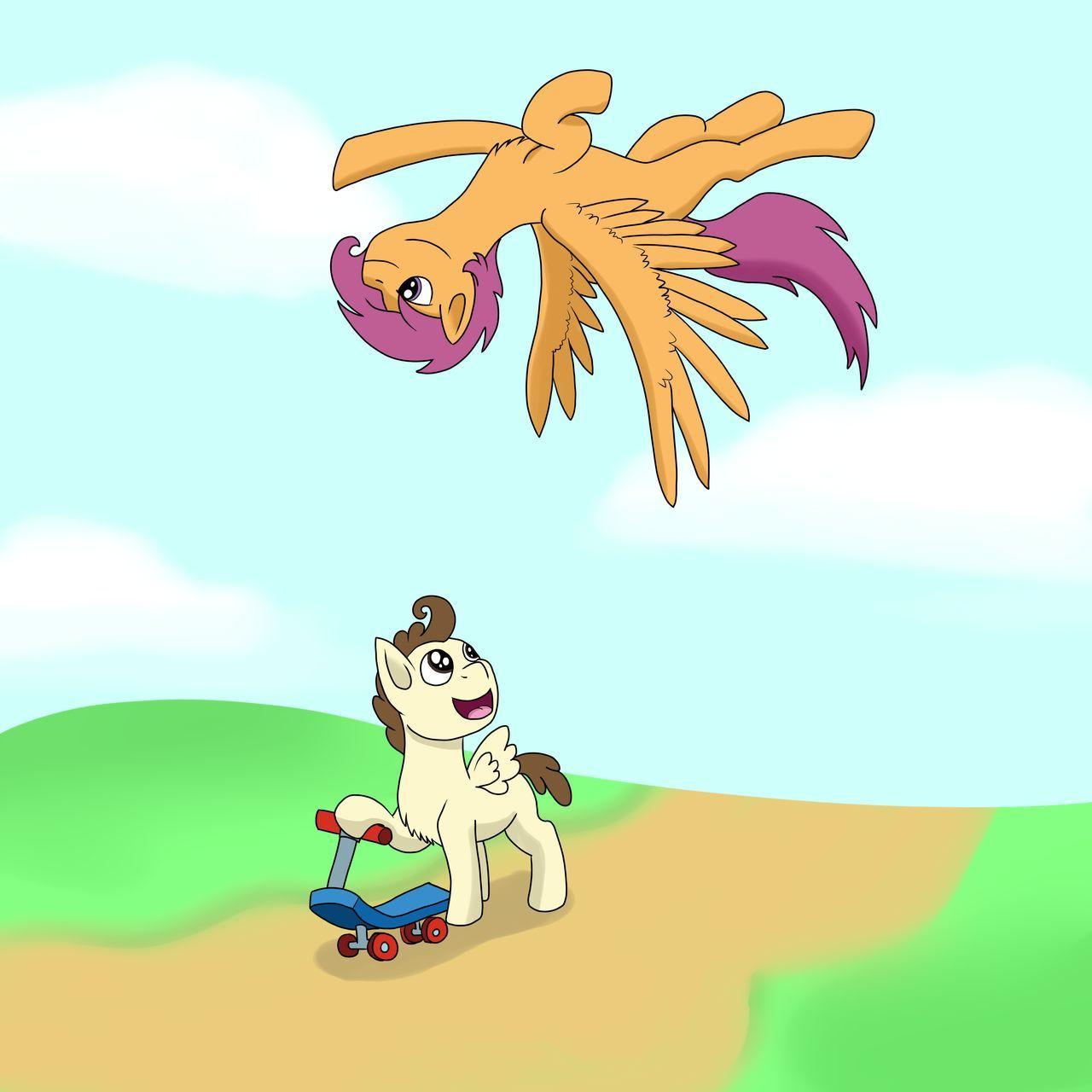 Pound Cake And Scootaloo Baby Pony Pony Headcanon Do you like this video? pound cake and scootaloo baby pony