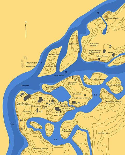 PiRamesses Map Avaris PiRamsès Pinterest Archaeology - Map of egypt during ramses