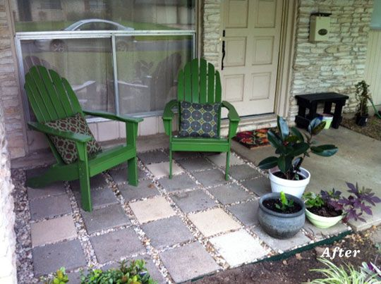 diy front patio to help the problem of neighborhood cats using front area of - Front Patio Ideas