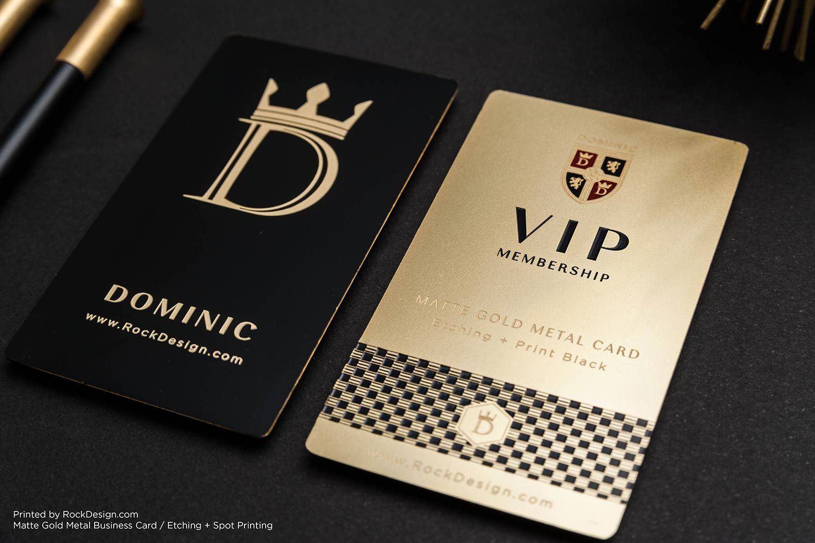 Gold Metal Business Cards | RockDesign Luxury Business Card ...