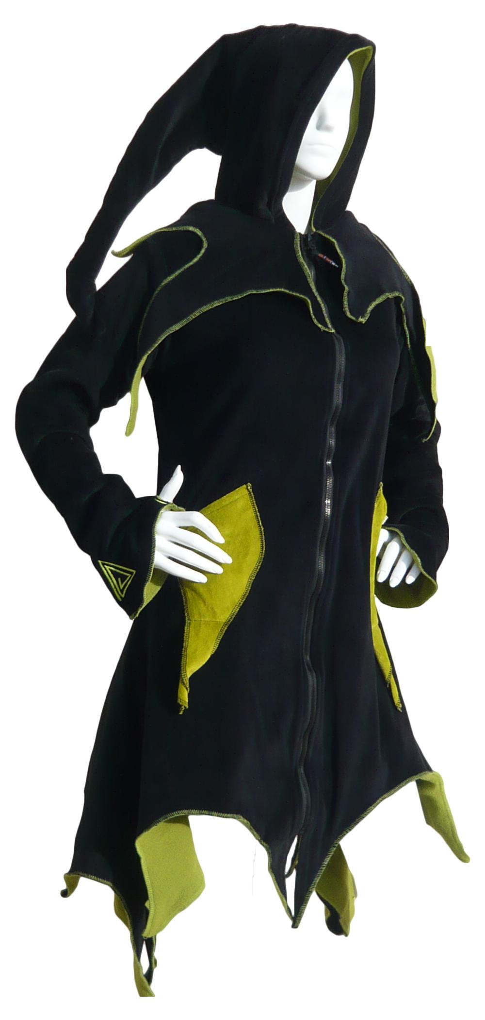 manteau long ethnique capuche lutin