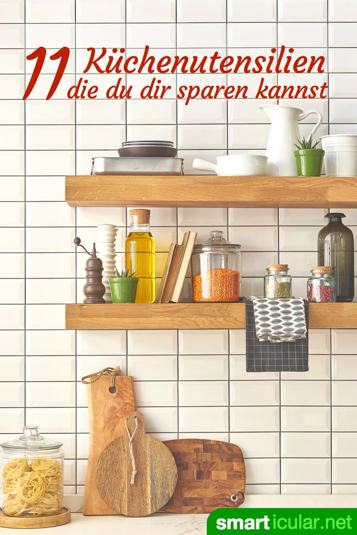 Minimalistische Küche: 16 Geräte durch einfache Alternativen