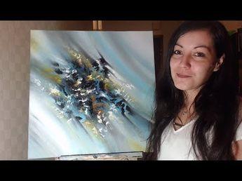 Peinture Acrylique Abstraite Techniques De Fondus Youtube Art