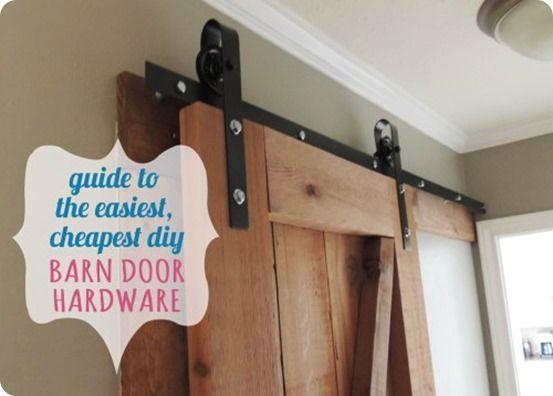 Inexpensive Sliding Barn Door Hardware Diy Barn Door Hardware
