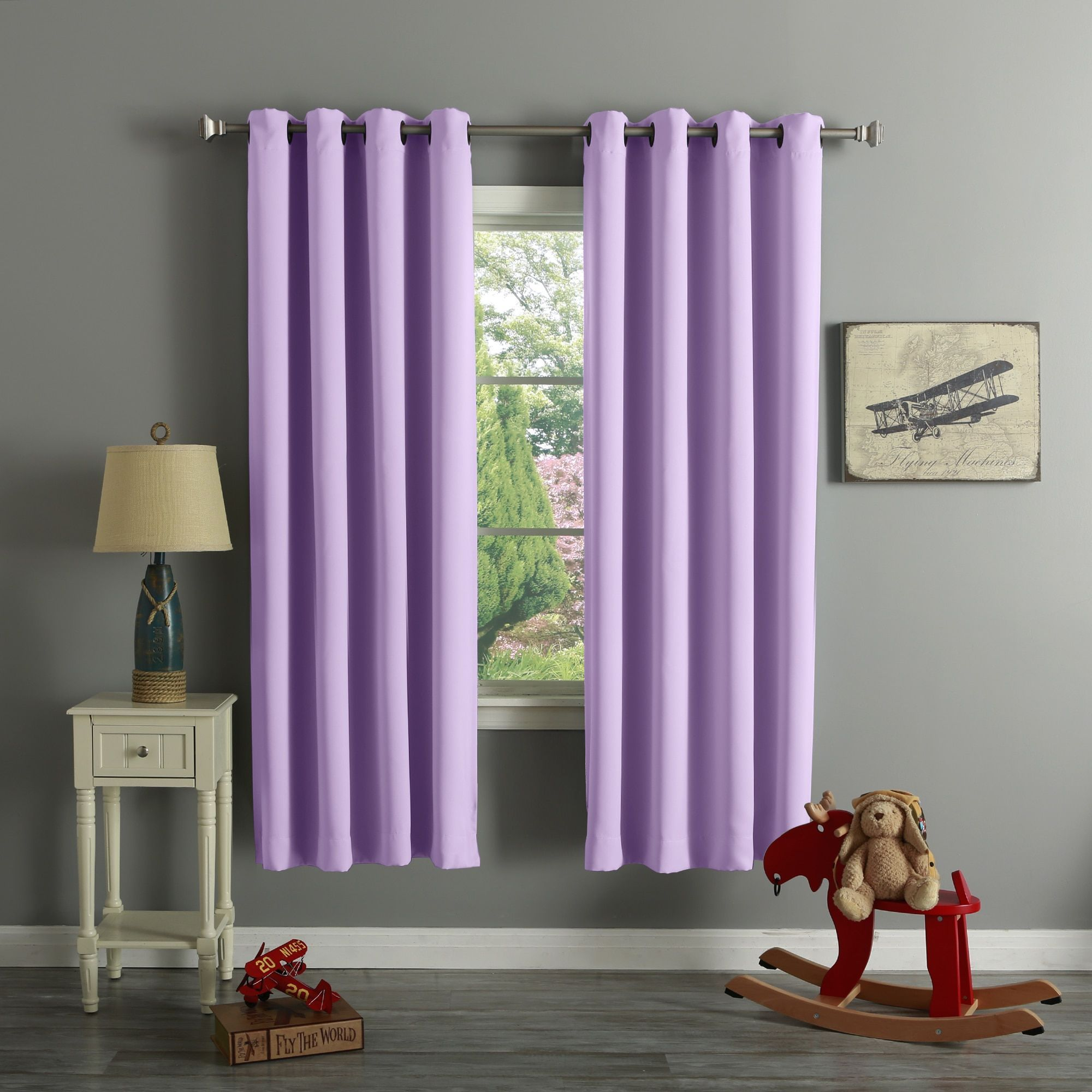Aurora Home Grommet Top Thermal Insulated Blackout Curtain Panel