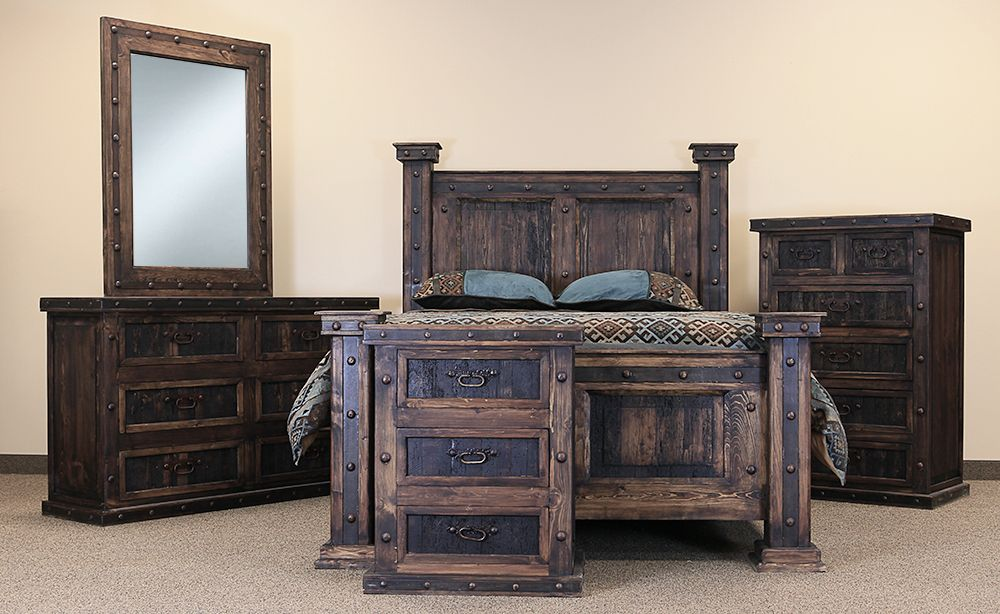 El Paso Rustic Bedroom Set King 5 Piece Reg Price 3929 95