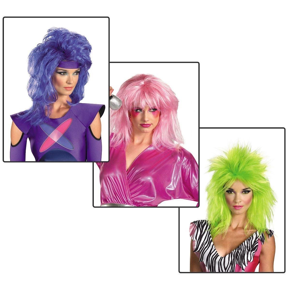 Jem Wig Costume Accessory Adult Womens Jem The Holograms Halloween | eBay