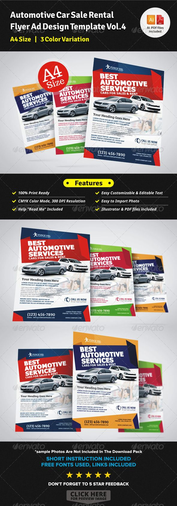 Automotive Car Sale Rental Flyer Ad – Car Sale Flyer