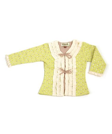 Loving this Chartreuse Tie Cardigan - Infant on #zulily! #zulilyfinds