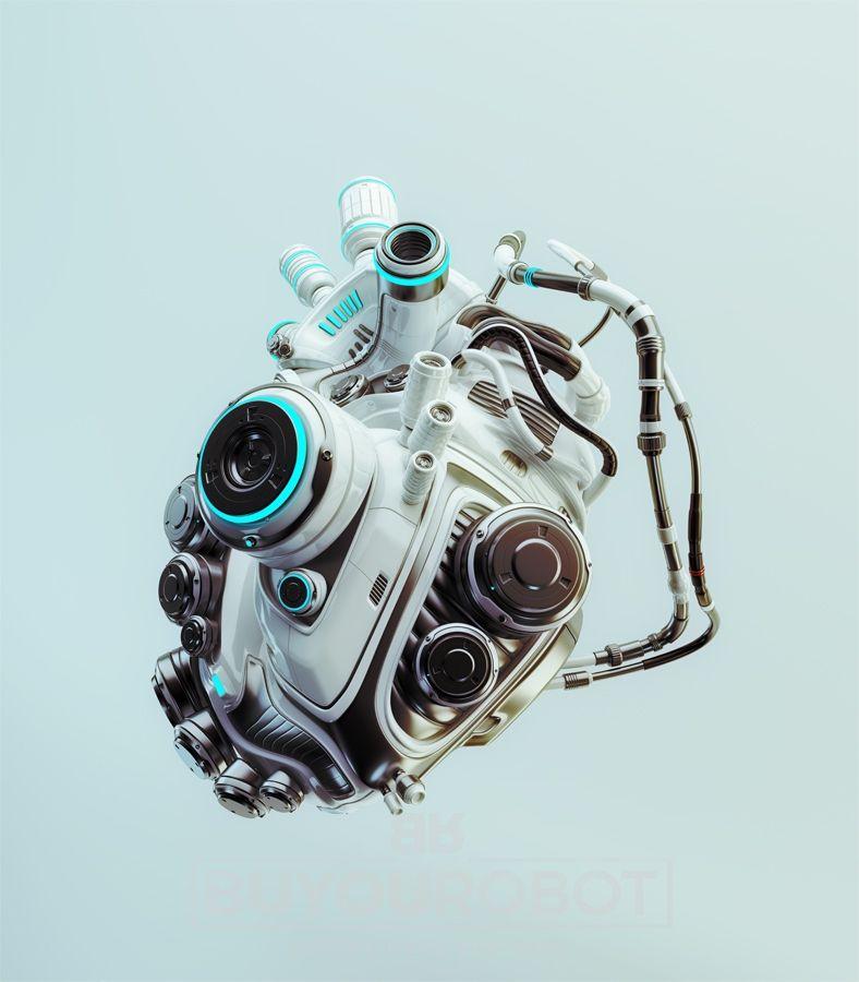robotic heart engine   Кибер   Pinterest   Robótica y Anatomía
