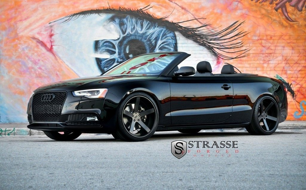 Photos 2013 Audi S5 Cabrio With 20 Inch Strasse Forged Wheels Audi S5 Black Audi Audi