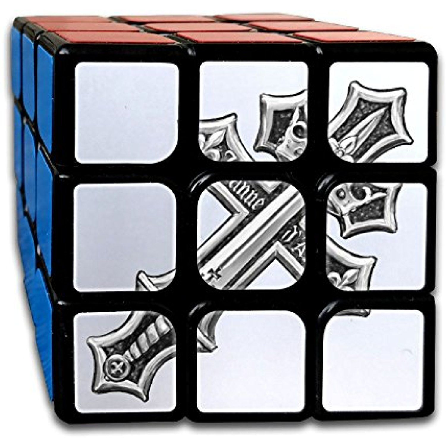 Cross Sword Crown Cool Tattoo Speed 3x3x3 Puzzle Cube Game