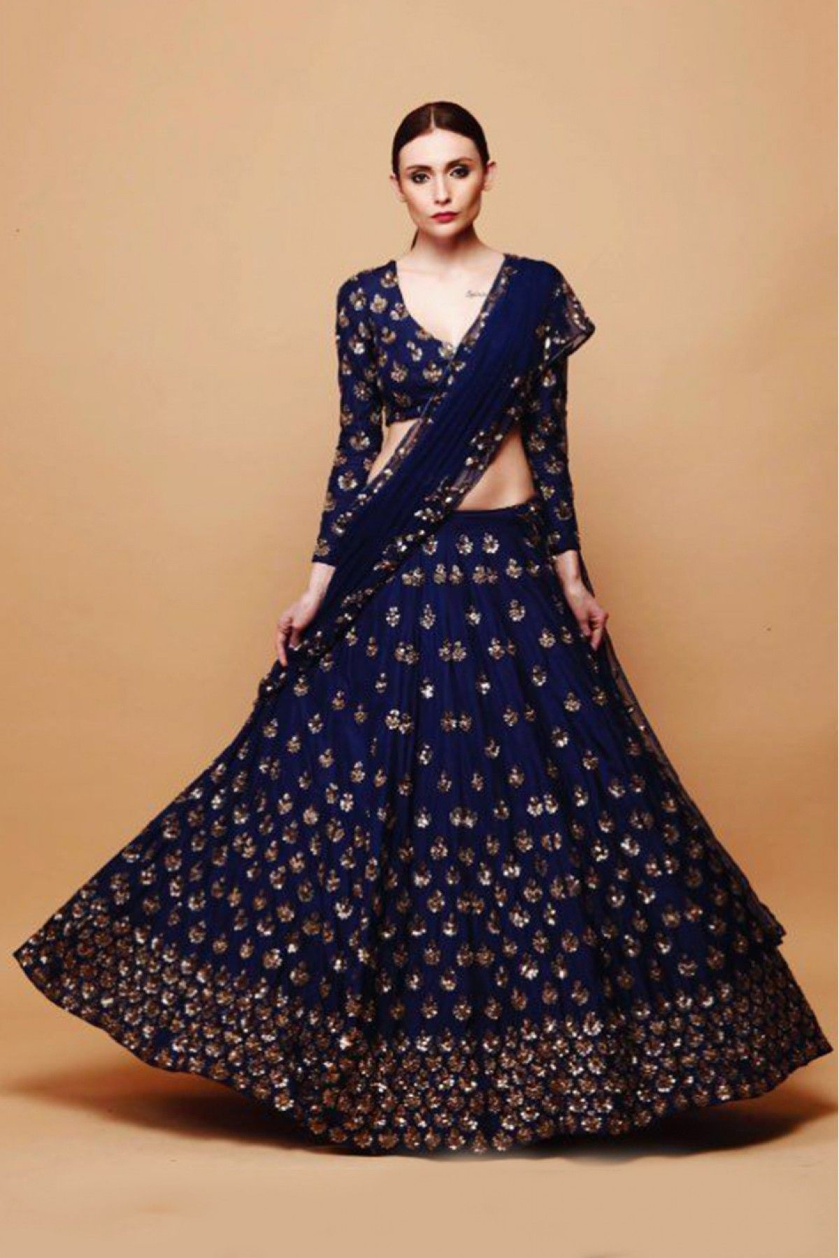 be47e07f02c4 Get In Touch With Your Feminine Side Wearing Blue Coloured Lehenga Choli By  Ninecolours. Made From Art Silk This Lehenga Choli Will Keep You  Comfortable ...