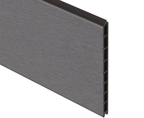 Sichtschutz System XL WPC grau Einzelprofil anthrazit, 30