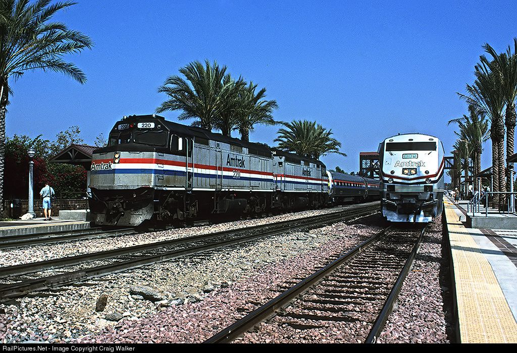 On September 17 1995 The Recently Constructed Track 3 At The Fullerton California Passenger Station Was Blocked With Railroad Equipm Amtrak Fullerton Train