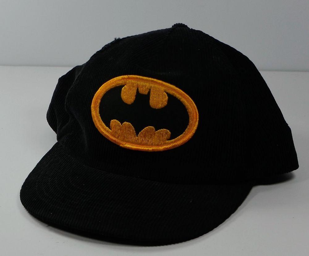 811ea508342 Vintage 1964 Batman DC Comics Black Corduroy Baseball Cap Hat Adjustable   Yupoong  BaseballCap