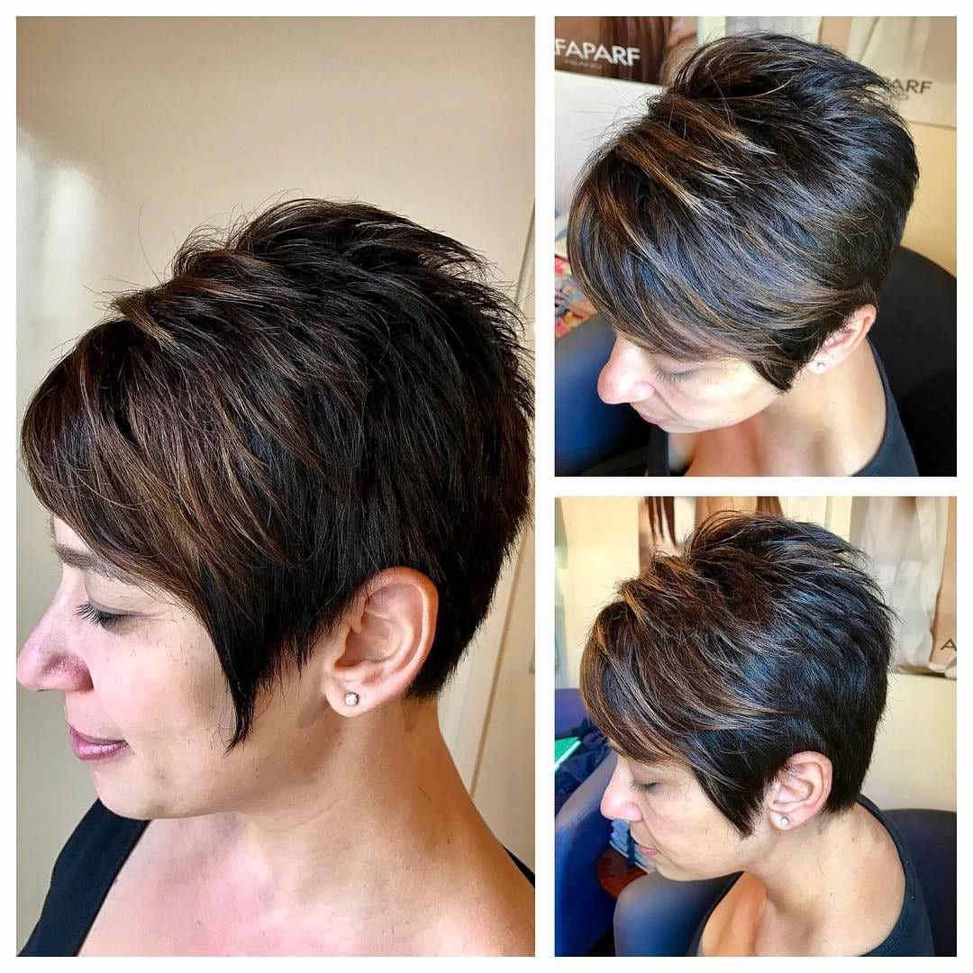 Undercut Pixie With Side Swept Bangs