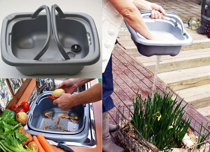 Hughie Removable Kitchen Sink Made from Biodegradable Plastic ...