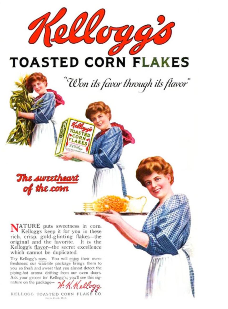 food: kellogg's toasted corn flakes (1919) | advertisements 1900