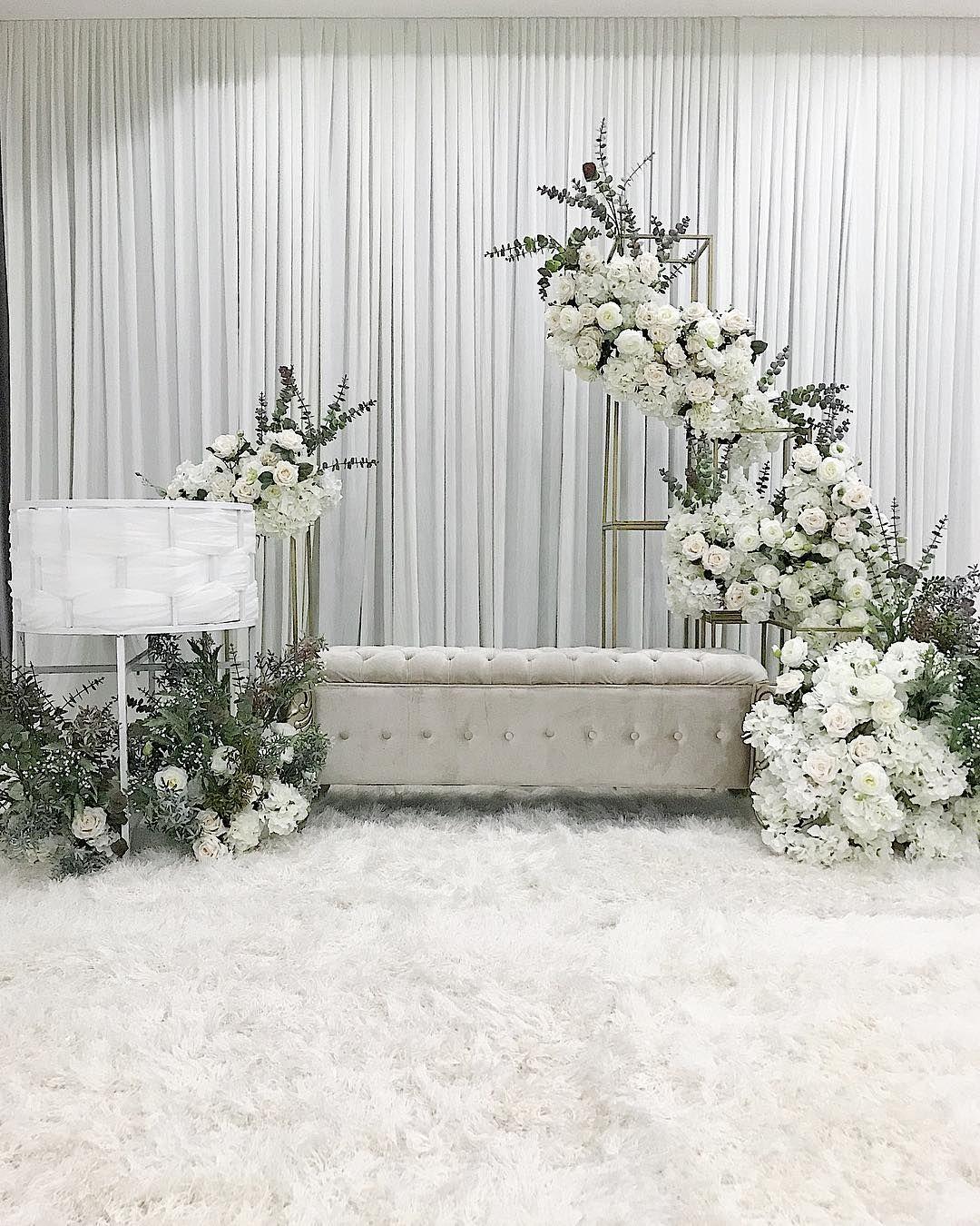 Wedding Nikah Simple Backdrop Decoration Muslim: Aqiqah Dais For Baby Zaim Shah Alam… In 2020