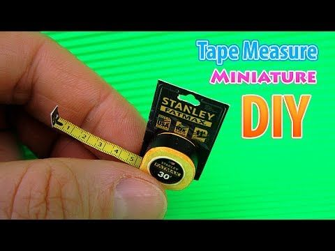 DIY Miniature Tape Measure | DollHouse | No Polymer Clay! #dollhouseminiaturetutorials