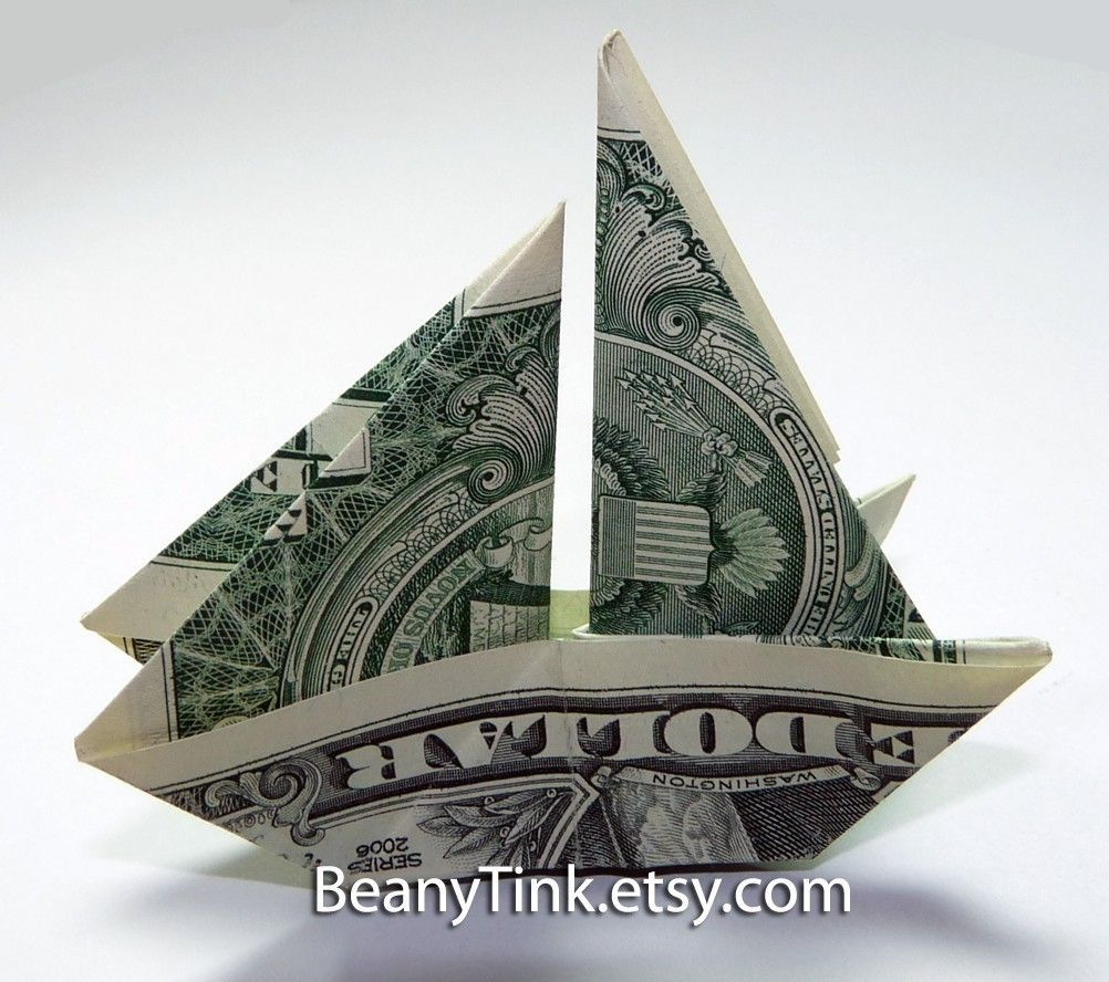 Money Sailboat - Make-Origami.com | 888x1002