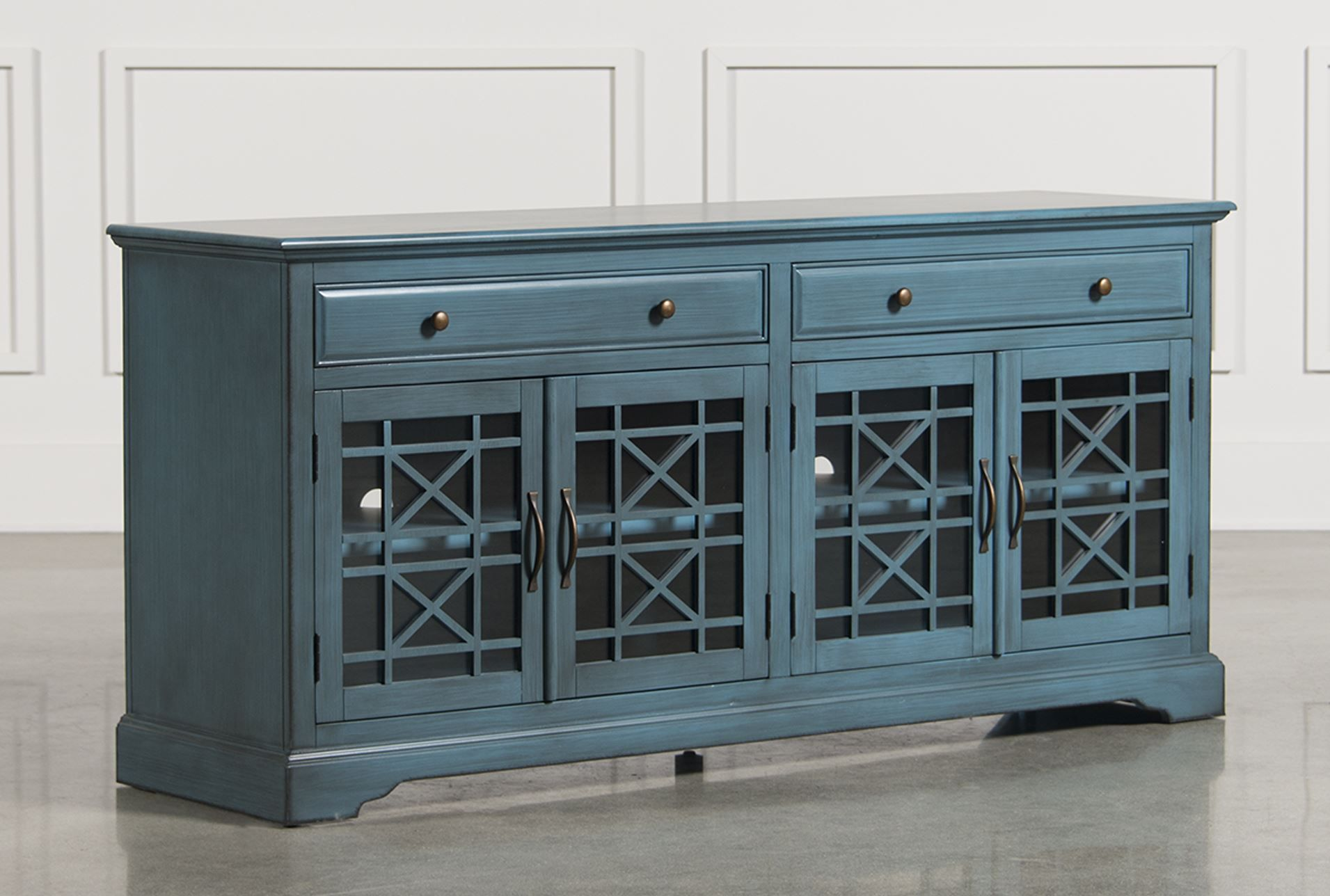 Annabelle Blue 70 Inch Media Console   Signature