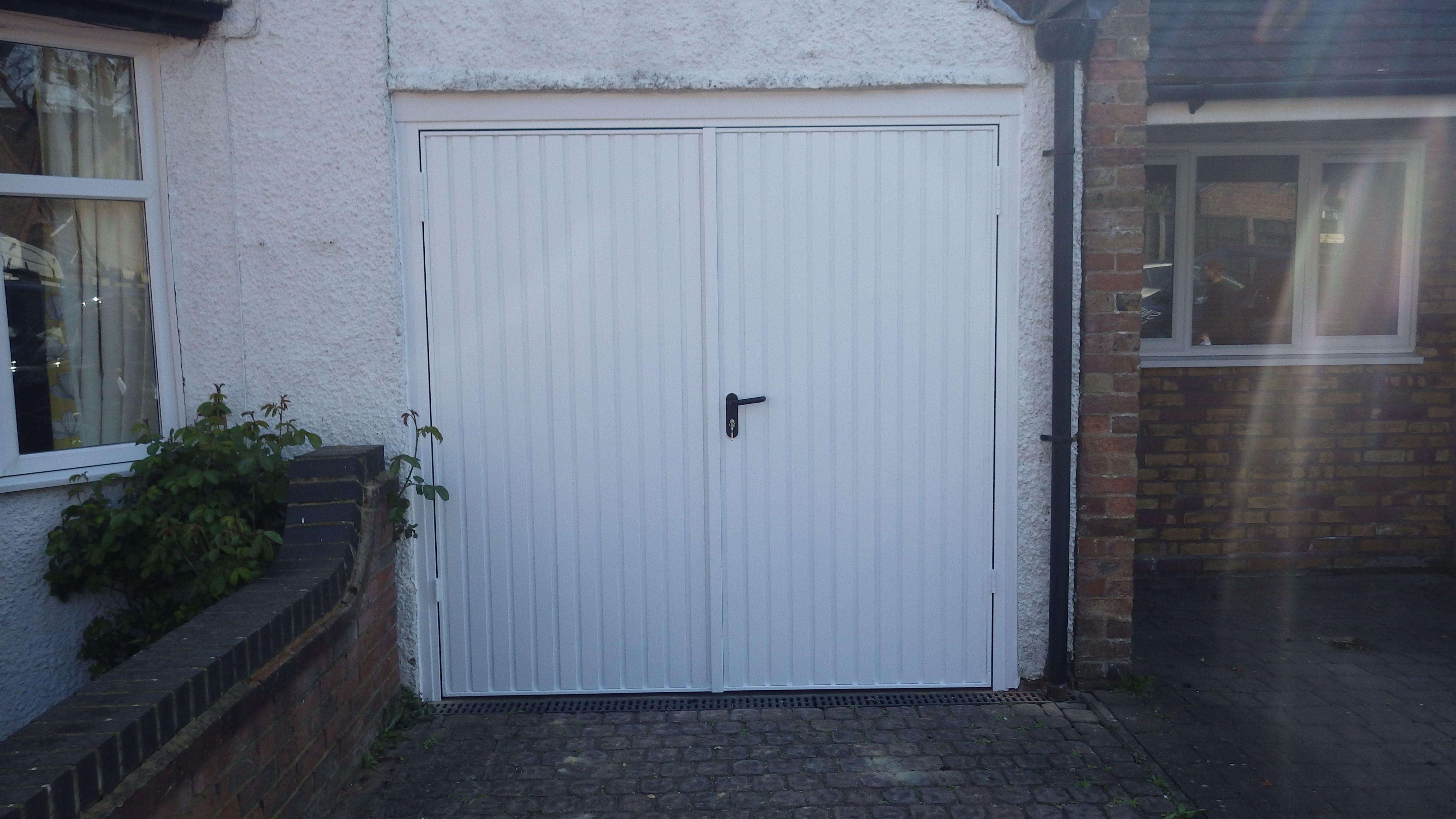 Garador Carlton, Side Hung Garage Door Finished In White With Standard  Locks.