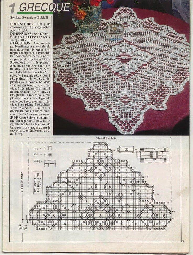 Decke quadratisch | Häkeln / crochet / crocheté_diverses | Pinterest ...