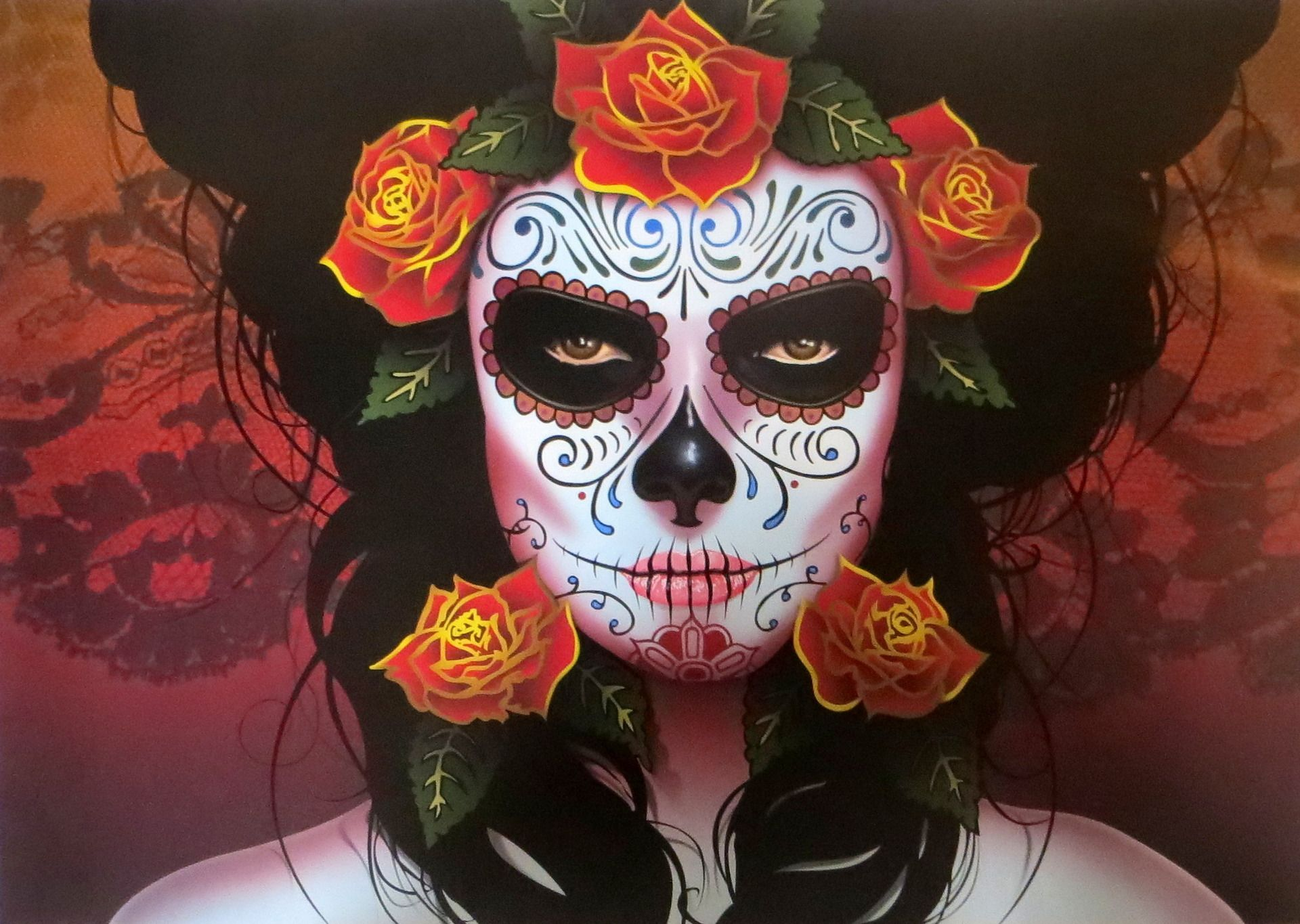 catrina mexicaine impression num rique sur toile masques mexicain pinterest impression. Black Bedroom Furniture Sets. Home Design Ideas