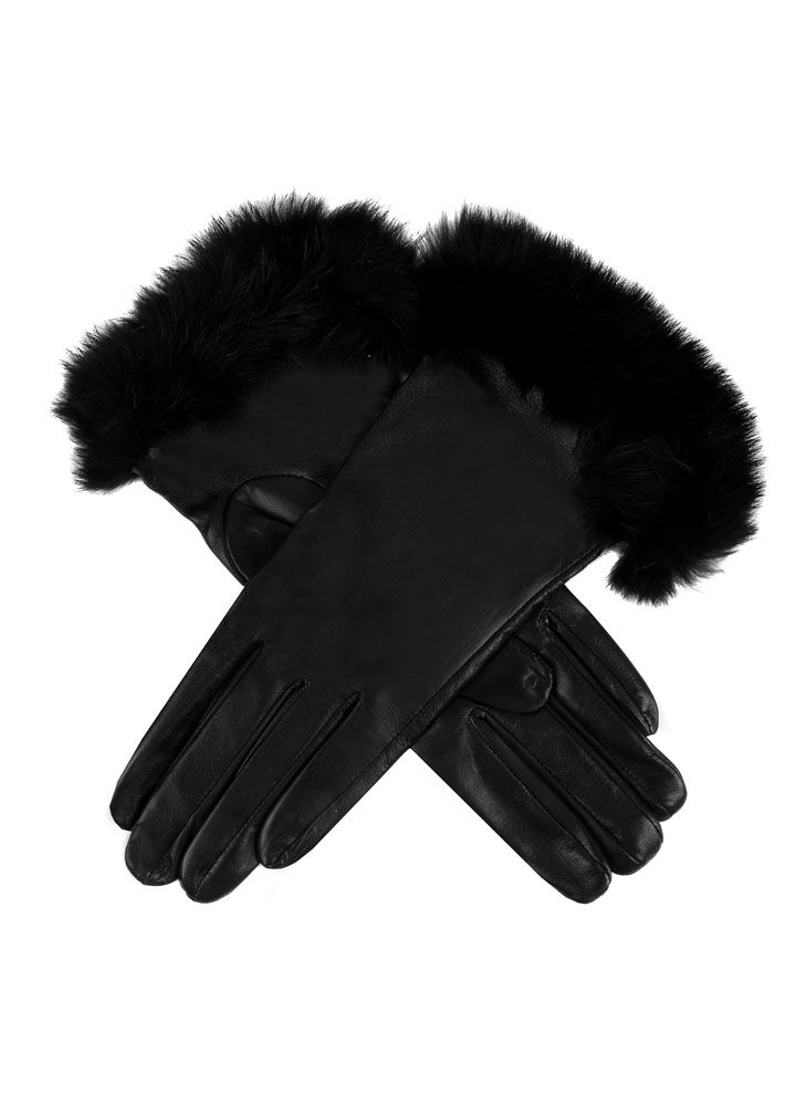 8371c01025dd9 Glamis Women's Silk Lined Hairsheep Leather Gloves with Fur Cuffs ...