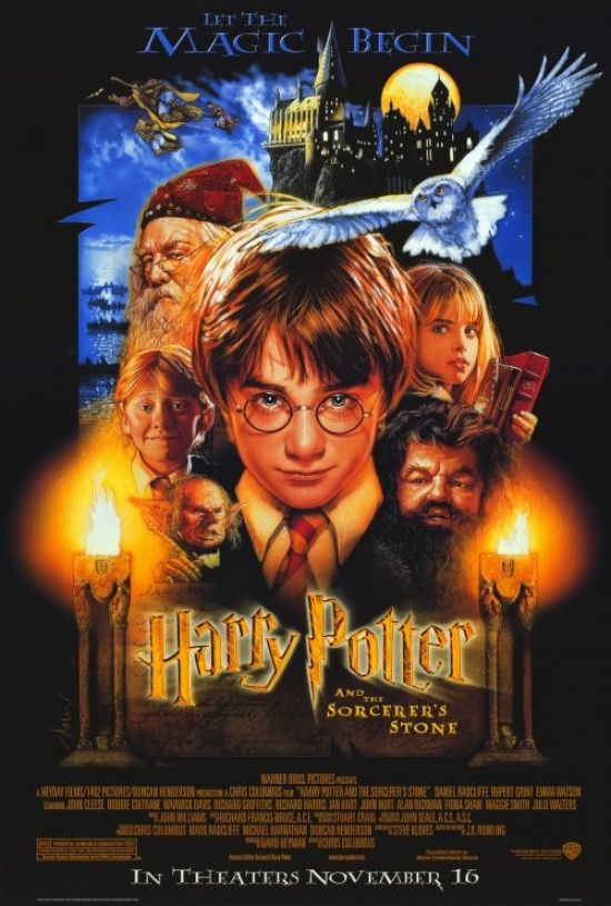 Harry Potter And The Sorcerer S Stone Movie Poster Print 27 X 40 Item Movef8306 Harry Potter Movie Posters Harry Potter Movies The Sorcerer S Stone