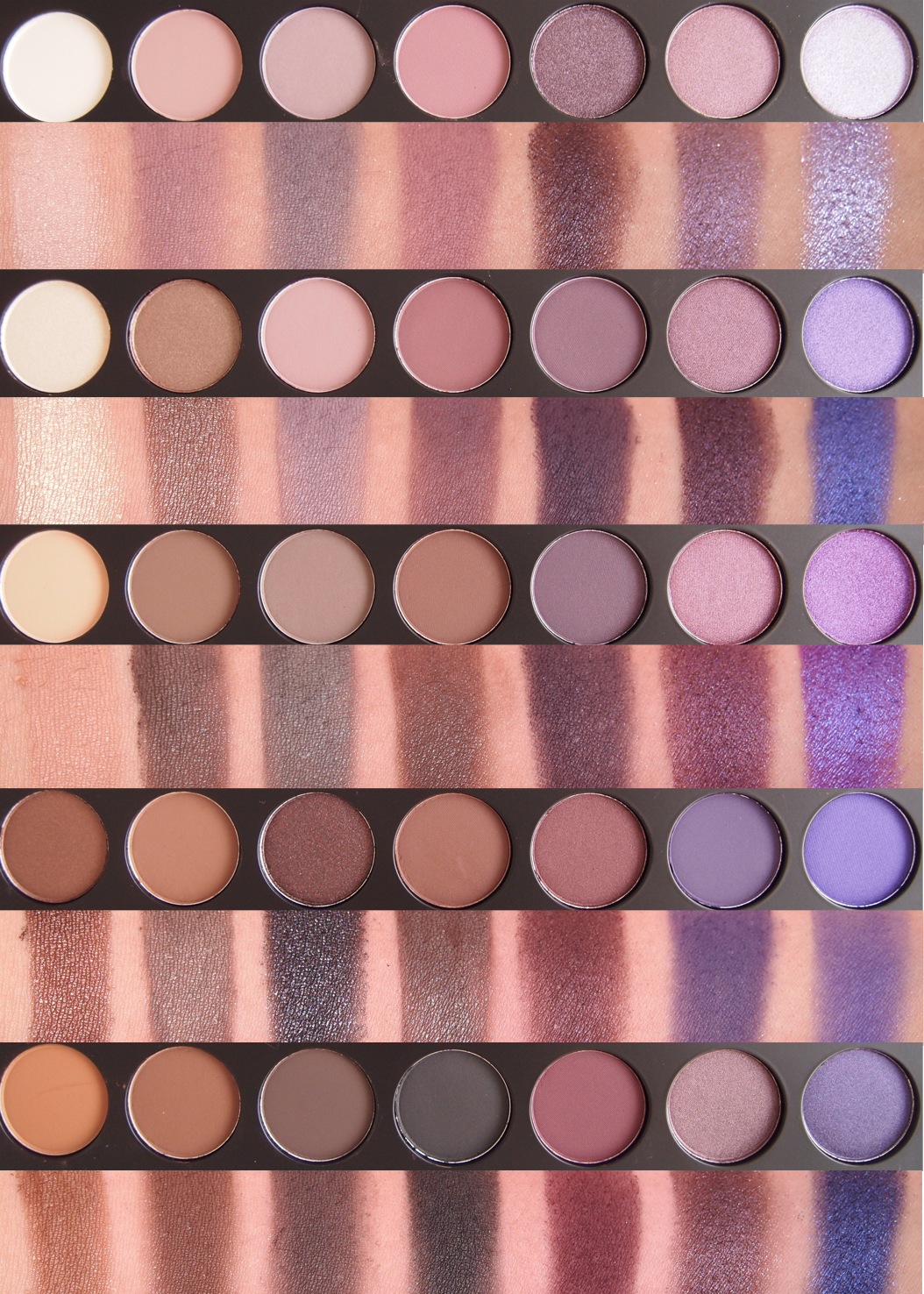 Morphe Brushes 35E Palette and 35P Palette (Swatch