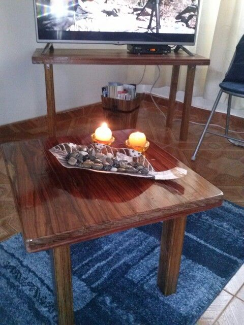 Mesa de centro en madera reciclada de Granadillo