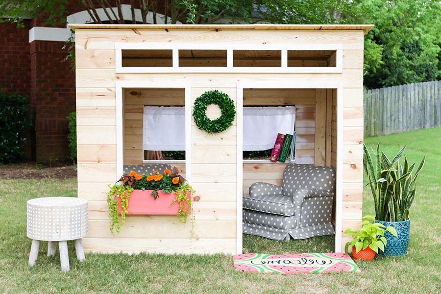 spielhaus f r den garten selber bauen diy anleitung balkon garten ideen spielhaus garten. Black Bedroom Furniture Sets. Home Design Ideas