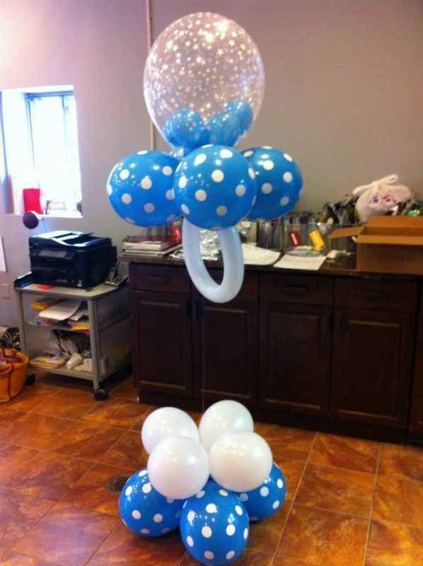Baby shower balloons balloon pacifier boy