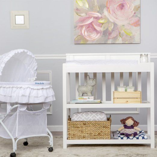Dream On Me Zoey 3-in-1 Convertible Changing Table, White | Little ...