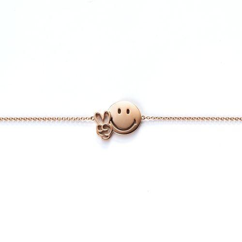 Bracelet Relax World By DiamantaJewels Smiley Rose Or wm8N0vn