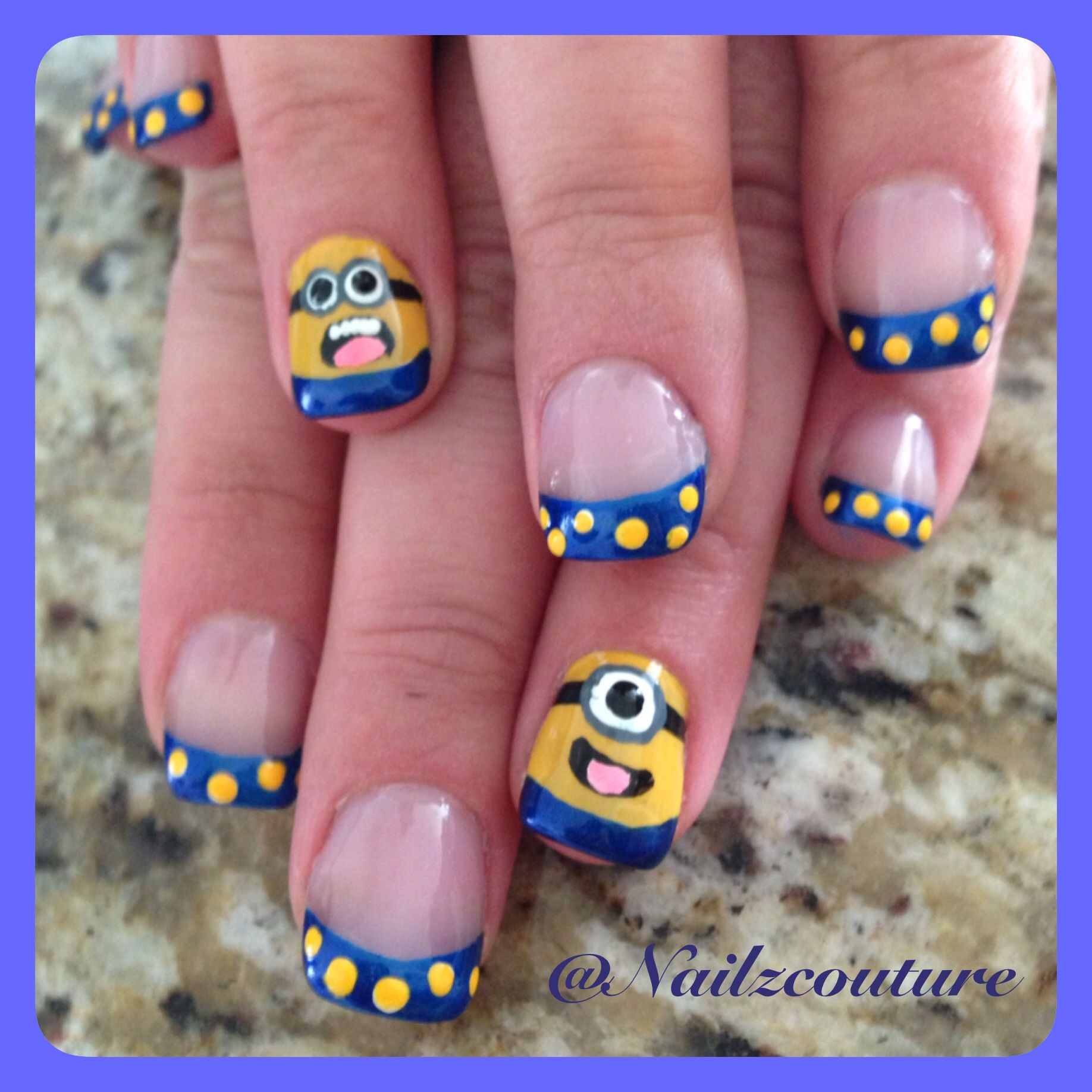Despicable me nails | My nail art all hand painted | Pinterest ...