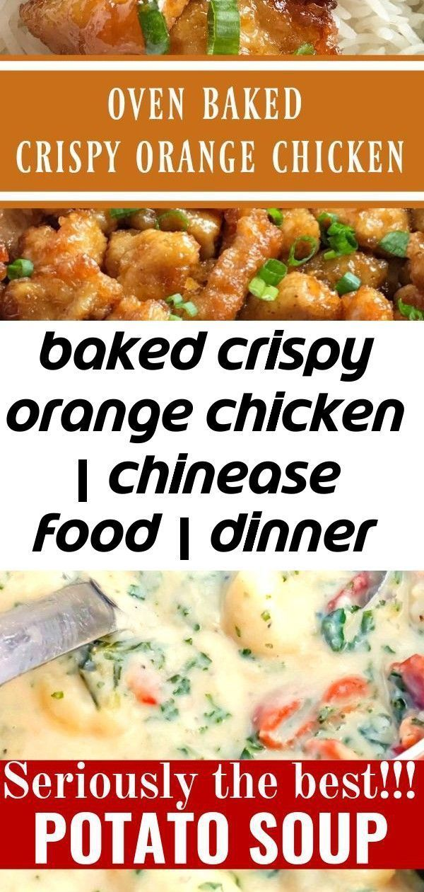 Baked crispy orange chicken | chinease food | dinner recipe | orange chicken | baked orange chicke 5 #chineseorangechicken Baked Crispy Orange Chicken | Chinease Food | Dinner Recipe | Orange Chicken | Baked Orange Chicken | This baked orange chicken is tastes better than any Chinese take-out you'll get at a restaurant. Crispy coating of egg & cornstarch and then it's baked in a sweet and delicious orange sauce. This is a dish that you will want to make over and over. #dinnerrecipes #easydinnerr #chineseorangechicken