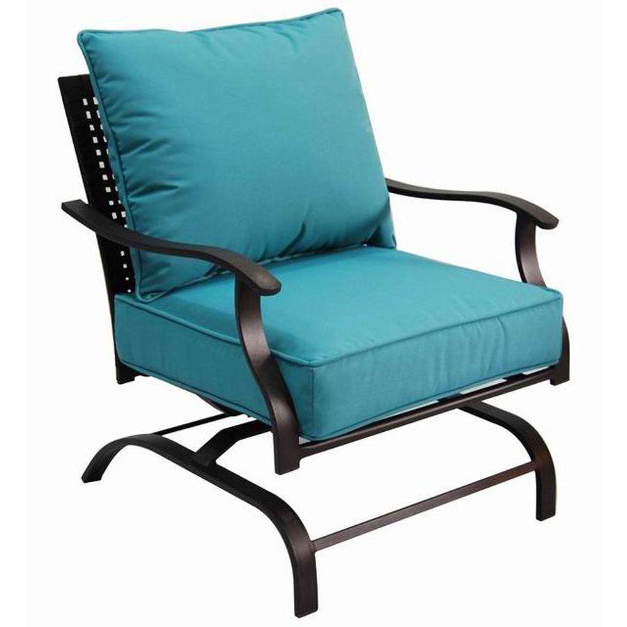 Marvelous Garden Treasures Galway Bay Steel Cushioned Patio Spring Short Links Chair Design For Home Short Linksinfo