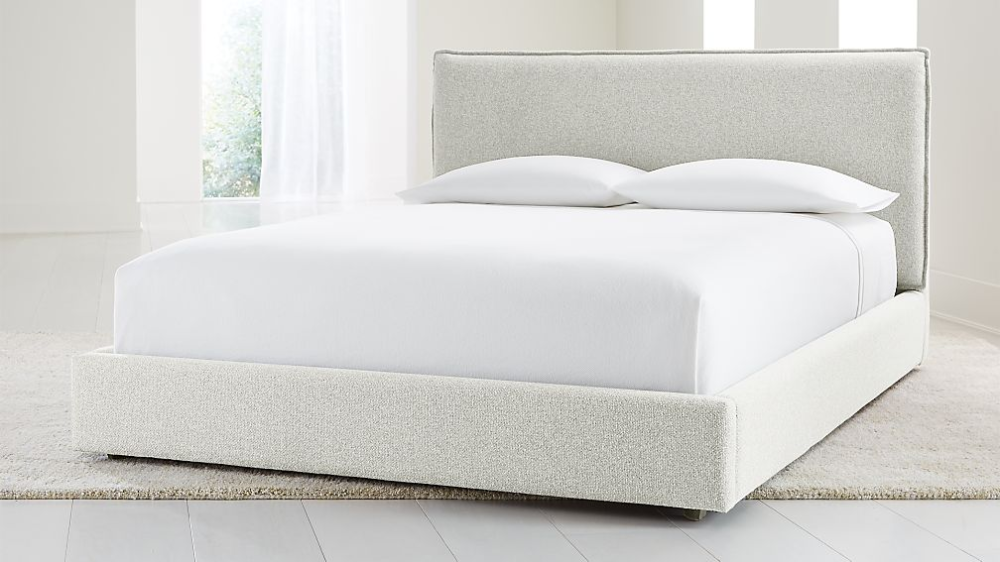 Lotus Frost Queen Bed + Reviews Crate and Barrel Bed