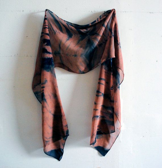 Natural Indigo and Madder Root Bomaki Shibori by SquidWhaleDesigns