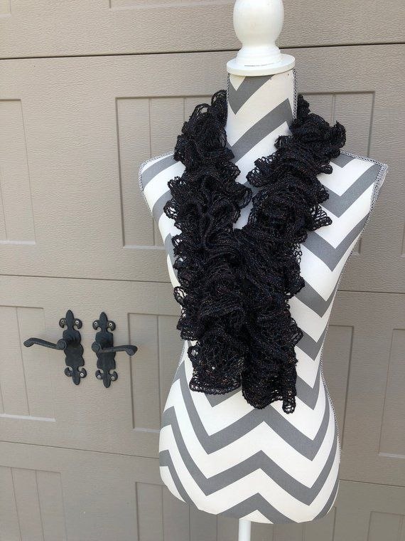 1 Scarves a creative and beautiful Loom Knitted ruffled