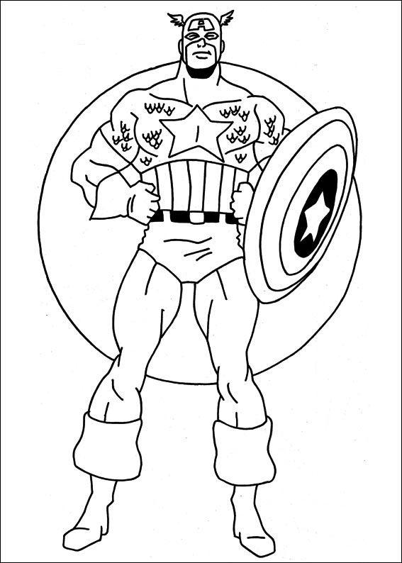 captain america 17 ausmalbilder für kinder malvorlagen