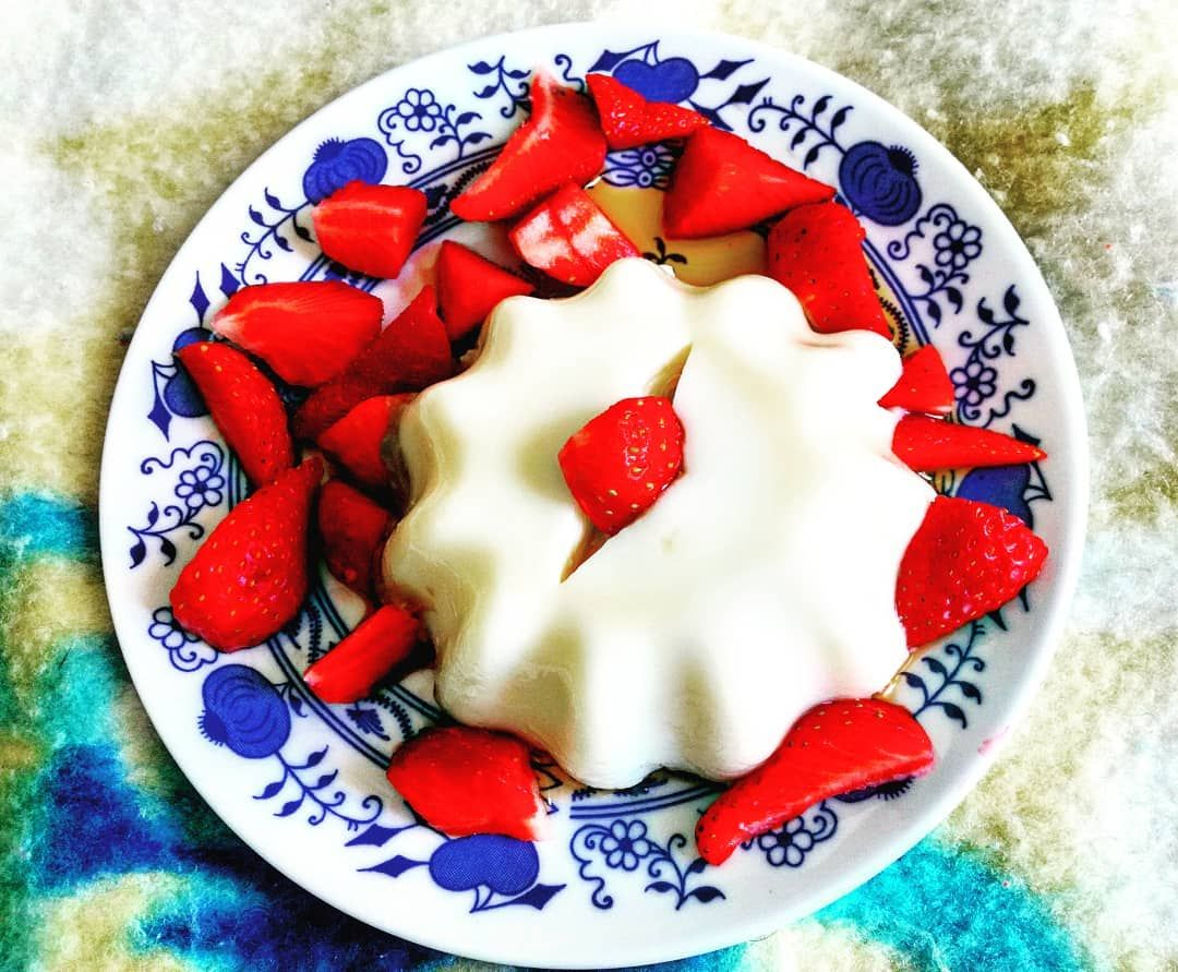 Grandmacooking Puding Strawberry Fruits Red Redfood