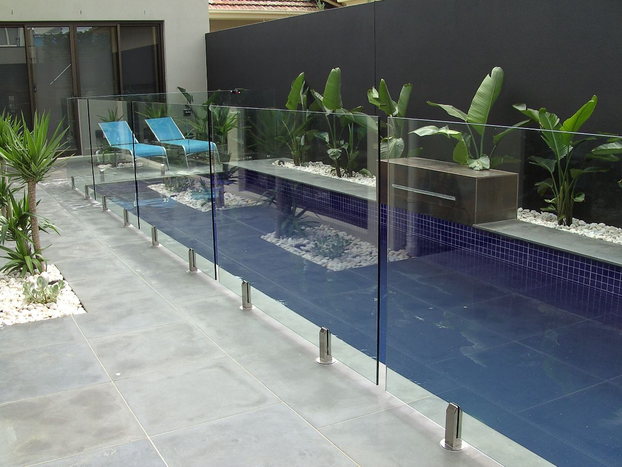 Glaspool Stunning Modern Patio Backyard Glass Pool Fencing Ideas Pool
