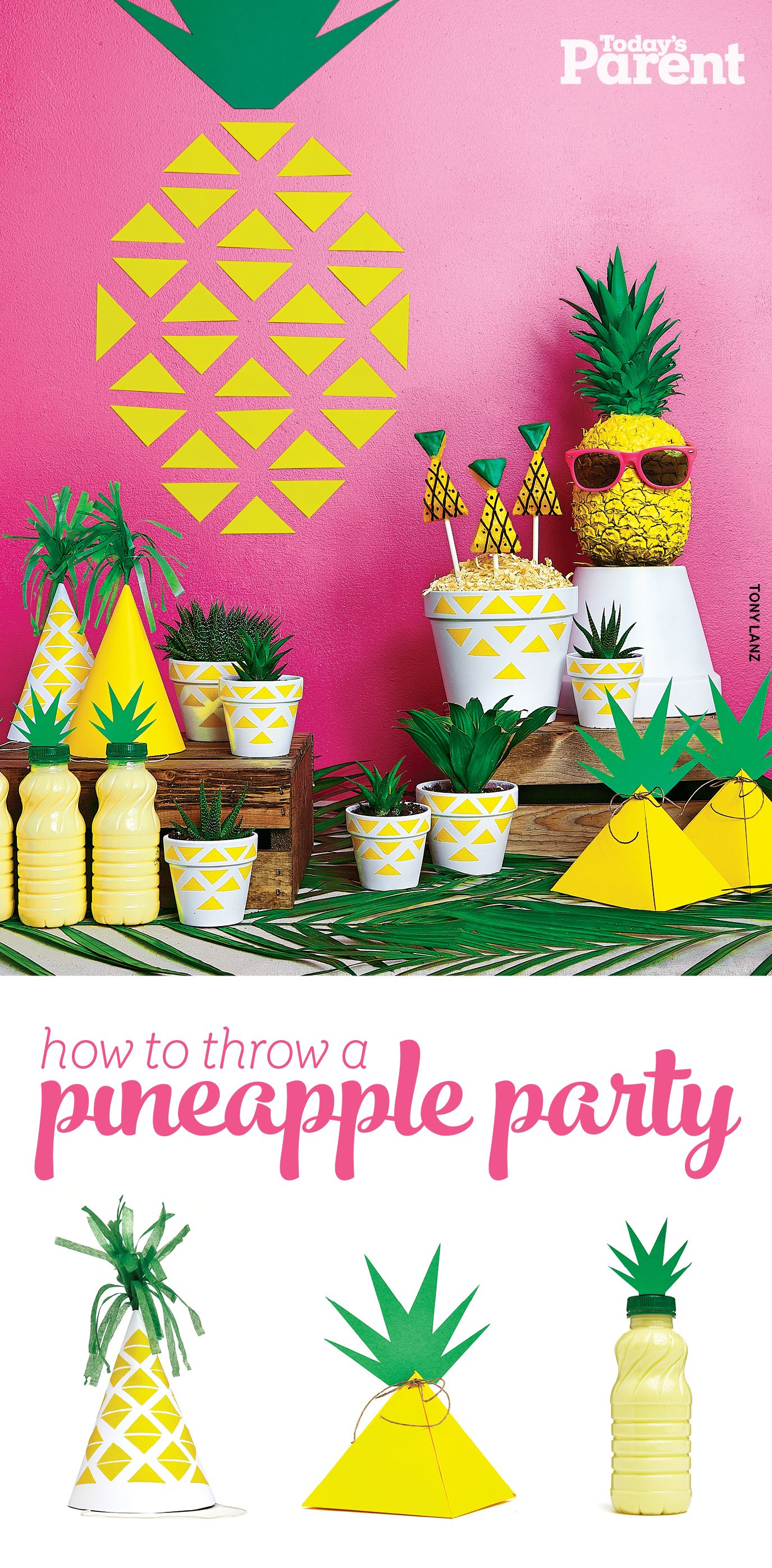 How to throw a pineapple party Sunnies, Winter and Birthdays